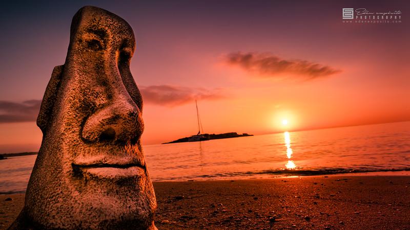 Moai in cala Comtesa