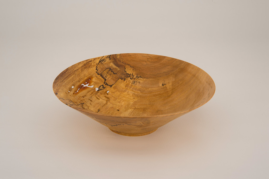 Wormy Spalted Sycamore Bowl