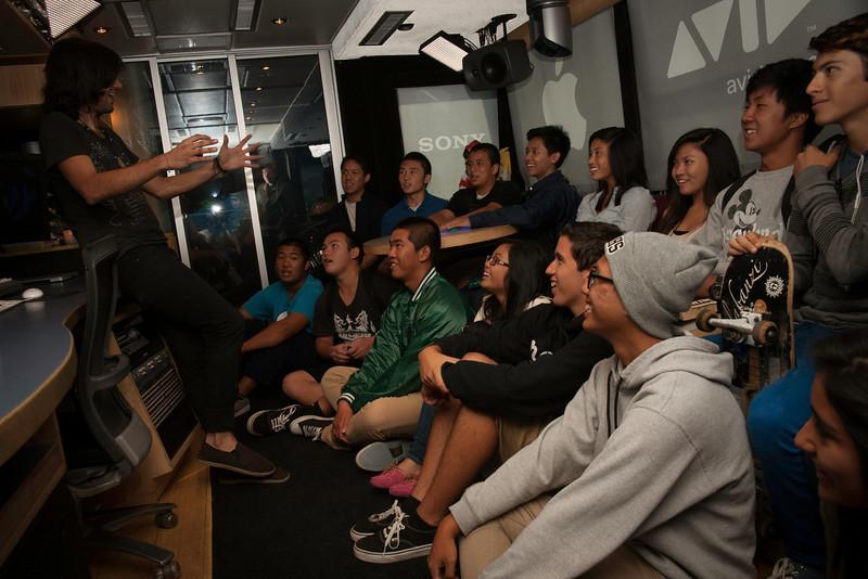 2012_10_12, Garden Grove, CA, Ranchos Alamitos High School, Student Tours, JLETB,