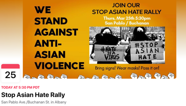 25 March 2021 - Stop Asian Hate Rally -  Albany