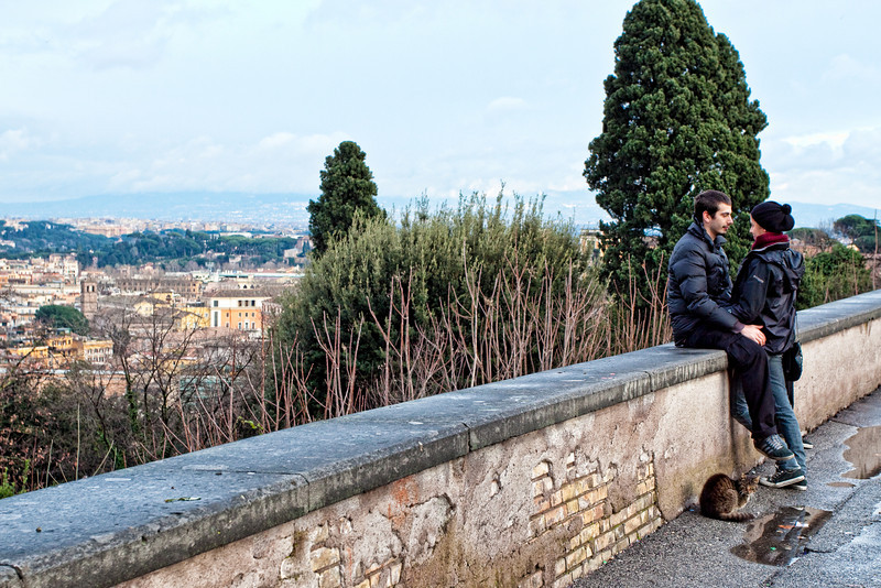 View from Piazzale Giuseppe Garibaldi