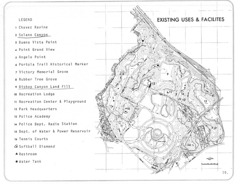 1971, Existing Facilities Map