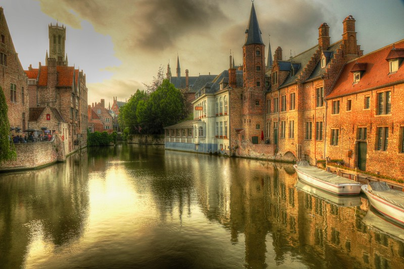 Fairy tale scene in Bruges