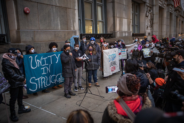 General Iron Hunger Strikers at City Hall - 2/23/21