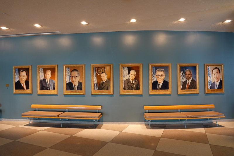 The eight previous UN Director General's.