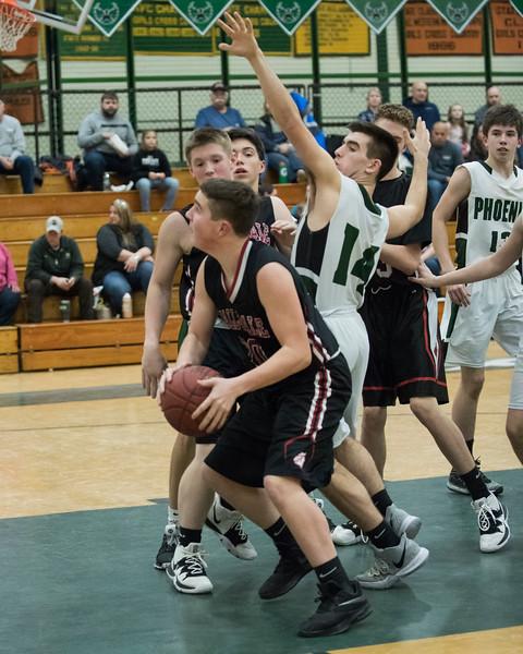 2020 JV Boys Basketball:  Hall-Dale vs Spruce Mt
