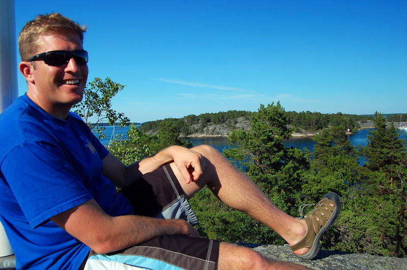 Chillin' on the top of the Island