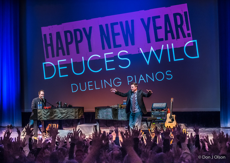 Deuces Wild Dueling Pianos, New Years Eve party 2016-Paramount, St Cloud MN
