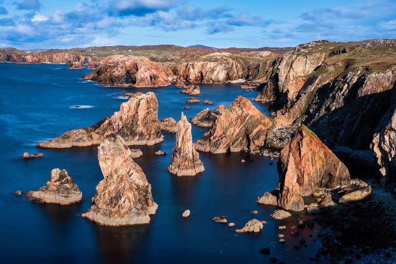 Mangurstadh Beach and sea stacks on the Isle of Lewis and Harris