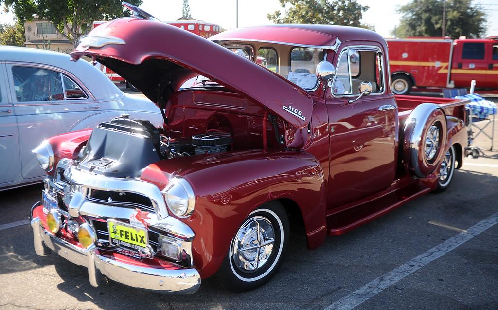 . 1954 Chevy truck during the 4th annual La Habra Highlanders car show at La Habra High School in La Habra Calif. on Saturday, Sept. 7, 2013.   (Photo by Keith Birmingham/Pasadena Star-News)