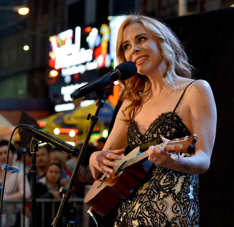 . Host Kelly Butler performs onstage during the 68th Annual Tony Awards Times Square Simulcast at Times Square on June 8, 2014 in New York City.  (Photo by Slaven Vlasic/Getty Images for Tony Awards Productions)