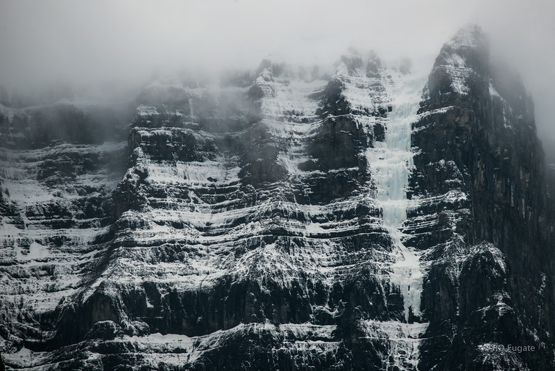 Ice and snow on the mountain at Columbia Icefield.