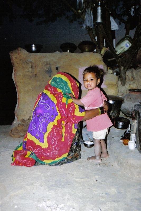 homemade hill dwellings, Rajasthan