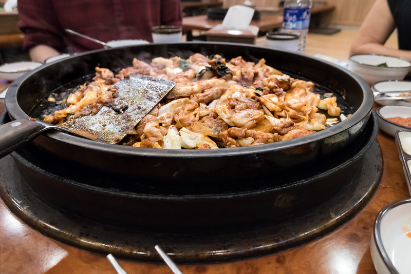 Dak galbi with Ben and Bev in Seoul.