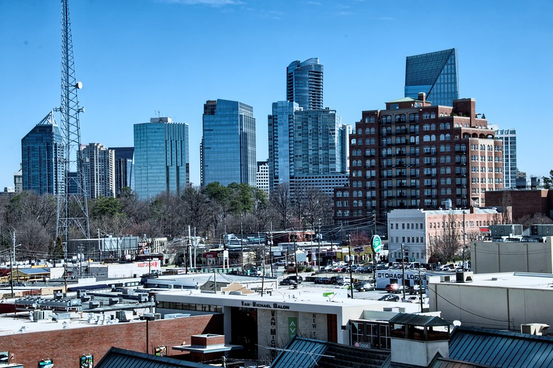 View of Buckhead Skyline from the St Regis Hotel