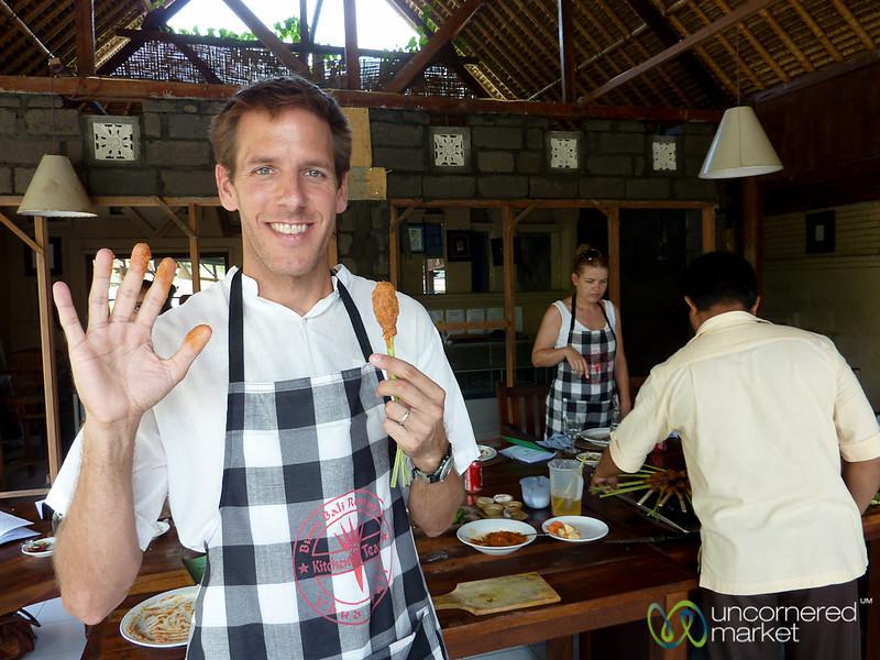 Making Sate Lilit - Bali, Indonesia