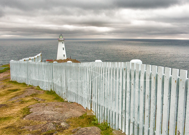 Gloomy sunrise from Cape Spear Lighthouse Historic Site, the eastern-most point in Canada, St. John's, Newfoundland