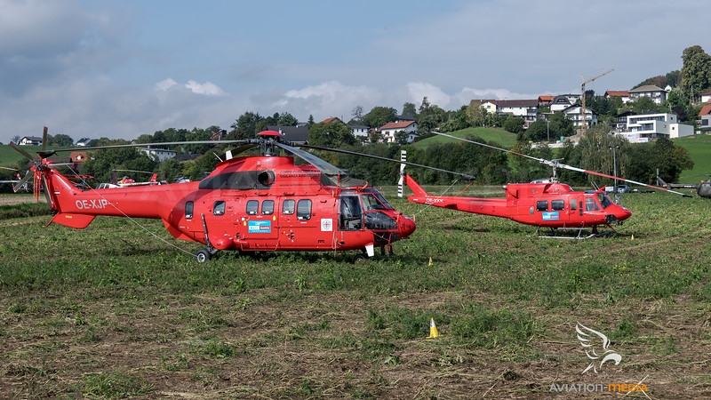 Heli Austria / Airbus Helicopters AS332 & Agusta-Bell AB212 / OE-XJP & OE-XKK