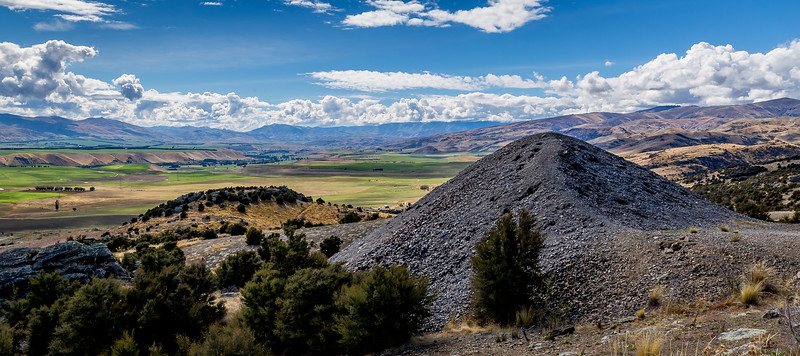 Goldmine Bendigo: künstlicher und natürliche Berge