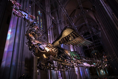 Unveiling of Xu Bing's Phoenixes at St. John The Divine, February 2014