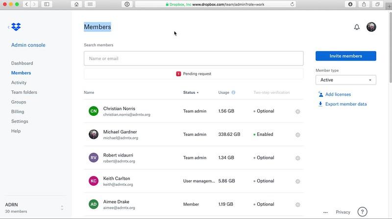 Dropbox Admin Overview - Add user.mov