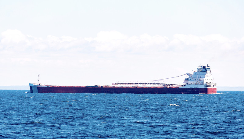 "The ore boat draws closer.    It's the Great Republic, a 635 foot ""bulk carrier""."