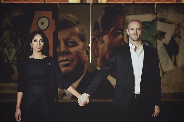 Subha and Tyler Engagement Portraits
