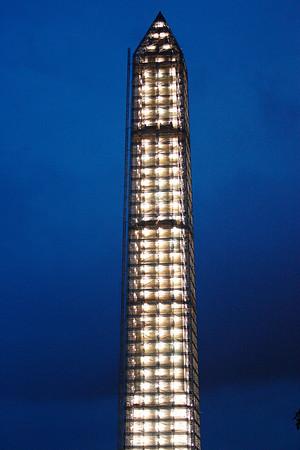 Washington Monument-Earthquake Damage Repair Scaffolding 7-27-13
