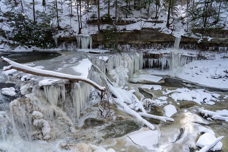 Great Falls of Tinkers Creek in winter