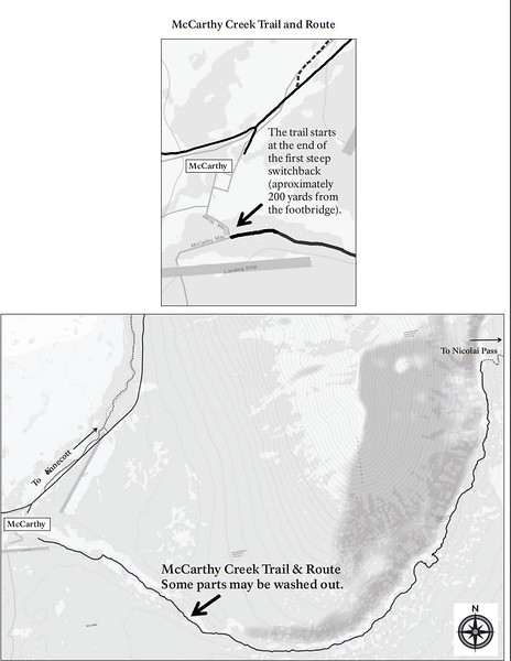 Wrangell-St. Elias National Park and Preserve (Kennecott Area - McCarthy Creek Trail & Route)