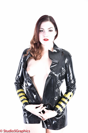 Porcelain latex captains jacket NSFW  pinup