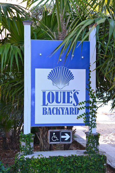 Louie's Backyard has been an island fixture since 1983 noted for its fine dining and Afterdeck Bar that overlooks the Atlantic Ocean.  It was also given a certain notoriety when Jimmy Buffett referenced the Bar in one of his songs.