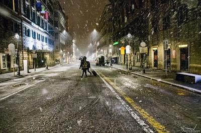 Snow, Rome 26.02.2018