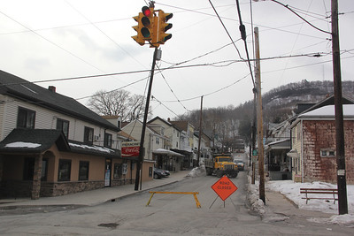 Service Line Repair, Hunter Street, Tamaqua (2-25-2014)