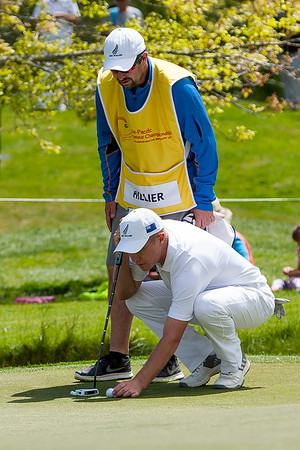 Charlie Hillier putting on the 18th green on the 3rd day of competition  in the Asia-Pacific Amateur Championship tournament 2017 held at Royal Wellington Golf Club, in Heretaunga, Upper Hutt, New Zealand from 26 - 29 October 2017. Copyright John Mathews 2017.   www.megasportmedia.co.nz