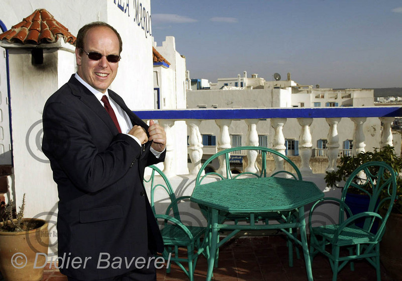 *legende* Visite de SAS Le Prince Albert au Maroc. Essaouira octobre 2002