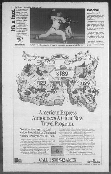 Daily Trojan, Vol. 114, No. 14, January 30, 1991