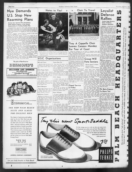 Daily Trojan, Vol. 29, No. 120, April 21, 1938
