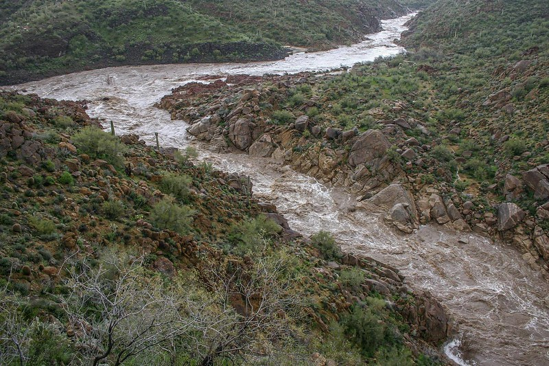 Flooding Santa Maria River in 1996