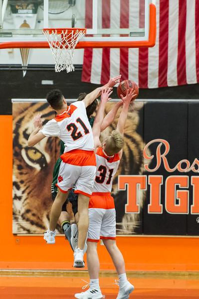 Roseville Varsity Boys Basketball vs Ponderosa 2-13-19 Playoffs