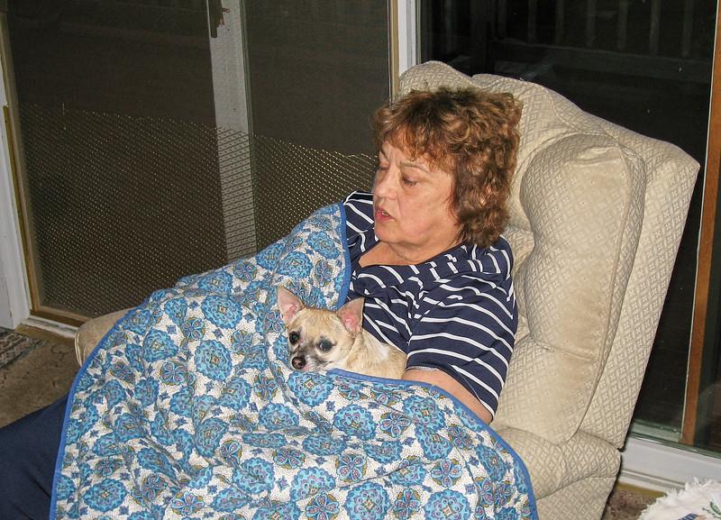 Shirley Lebin at home. June 29 2007