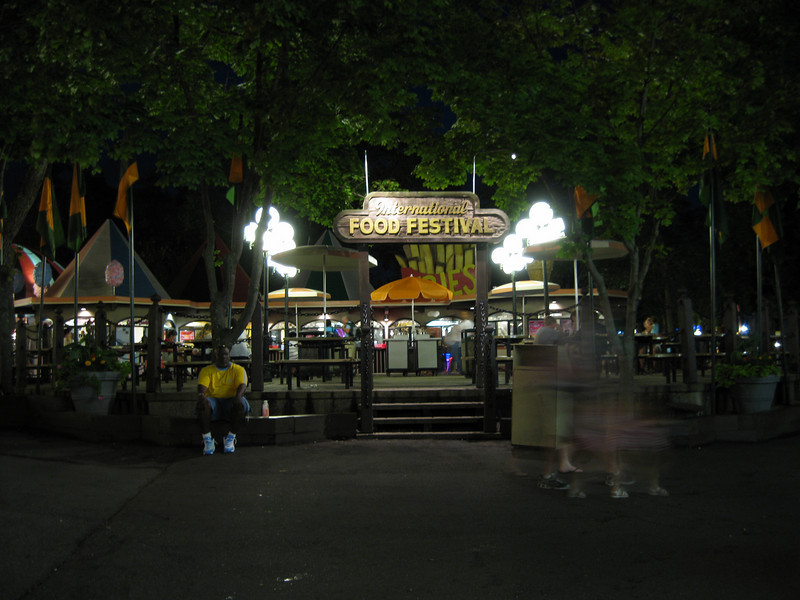 International Food Festival at night.