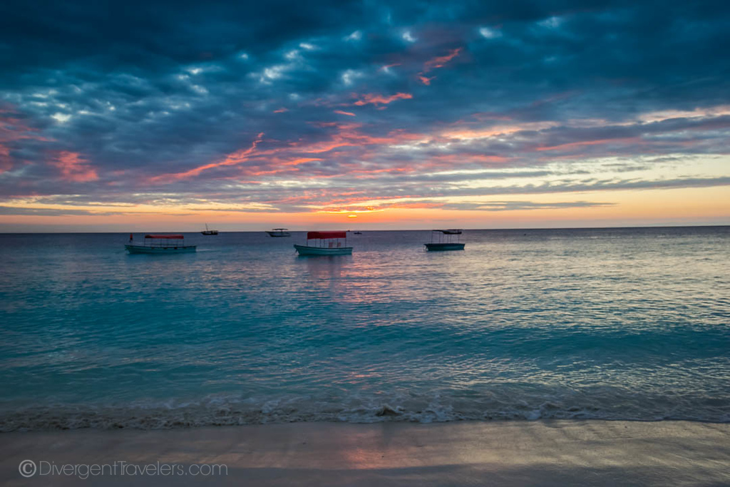 Sunset on Nungwi beach, Zanzibar