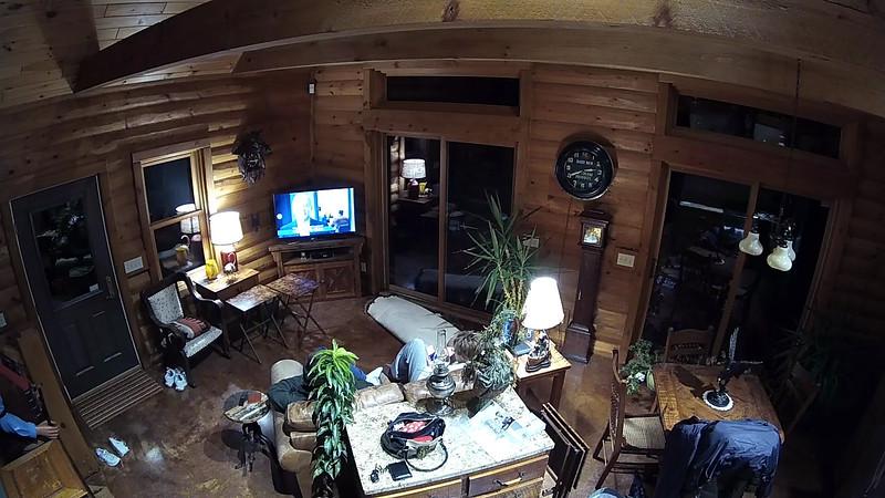 Cabin Watching TV