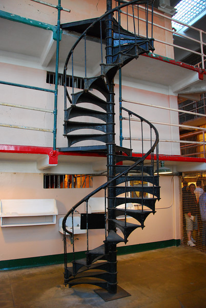 This is the spiral staircase at Alcatraz.  Unfortunately, it was off-limits.