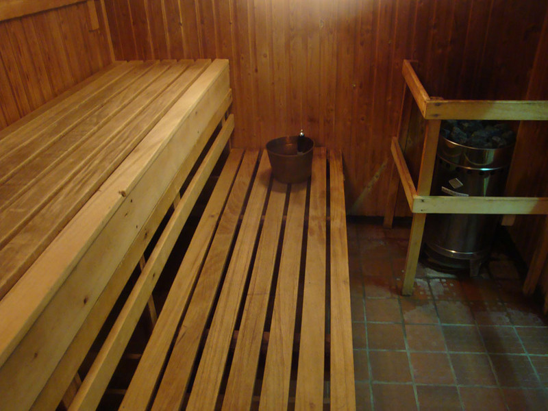 At long last, I was allowed into the sauna.
