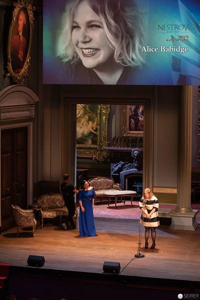 Alice Babidge - Nestroy Verleihung 2018