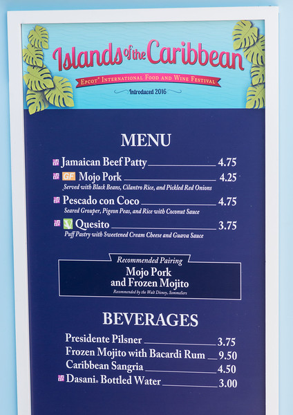 Islands of the Caribbean Menu - Epcot Food & Wine Festival 2016