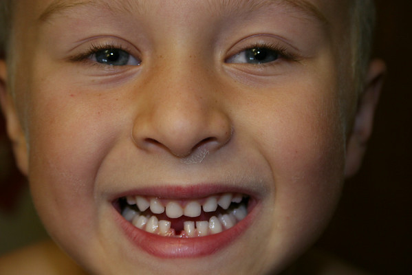 Tucker 1st lost tooth