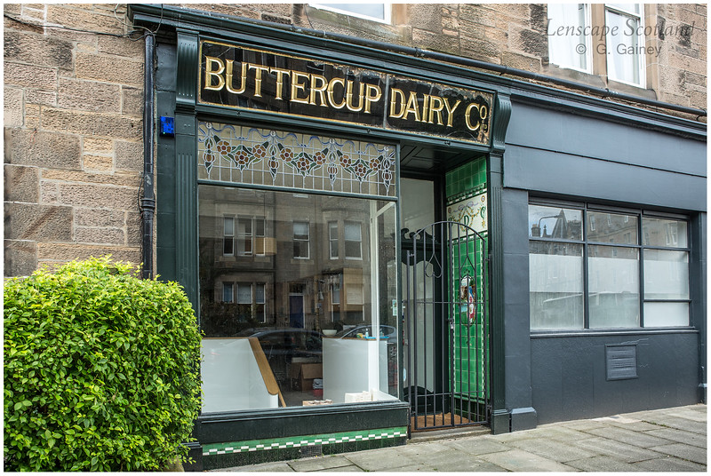 Former Buttercup Dairy shop (restored), Warrender Park Road